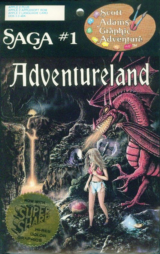 Cover of the 1982 graphic version of Adventureland (Apple II)