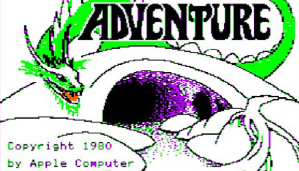 Title screen from 'Adventure' for the Apple II, 1980