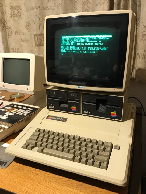 Zork I running from an original disk on the author's Apple IIe