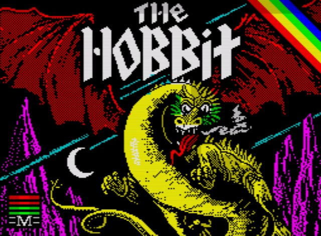 The Hobbit - new 128k version title screen
